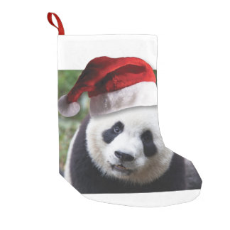 Christmas Panda Bear Small Christmas Stocking