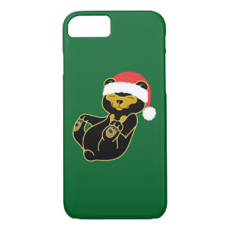Christmas Panda Bear with Red Santa Hat iPhone 7 Case