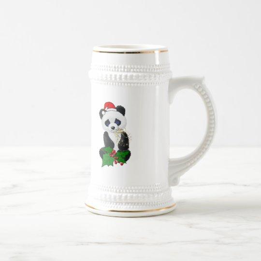 Christmas Panda Beer Stein
