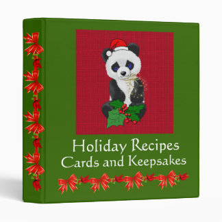 Christmas Panda Binder