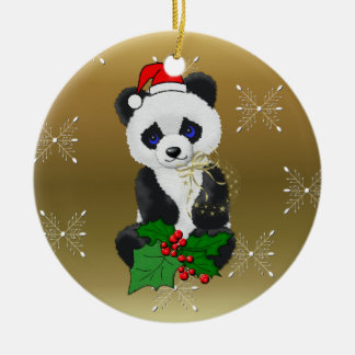 Christmas Panda Christmas Ornament