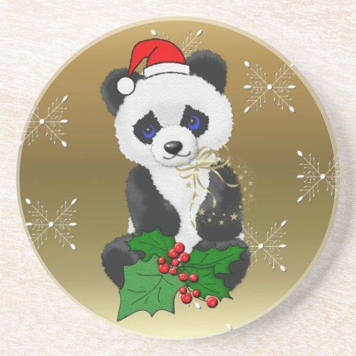 Christmas Panda Coasters