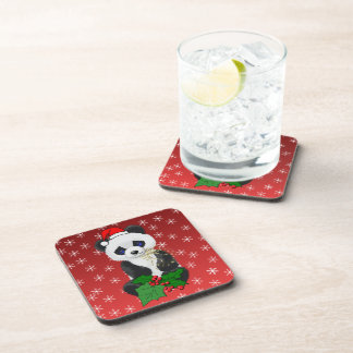 Christmas Panda Drink Coaster