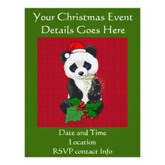 Christmas Panda Flyer Design