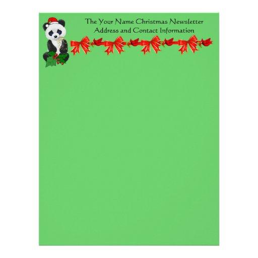Christmas Panda Personalized Letterhead