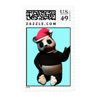 Christmas Panda loves da belly! Postage Stamps