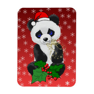 Christmas Panda Magnet