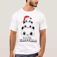 Christmas Panda Men's Basic T-Shirt