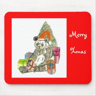 Christmas Panda Mousepad