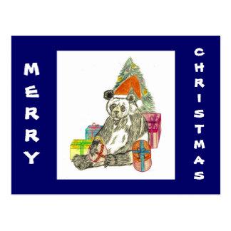 Christmas Panda Postcard