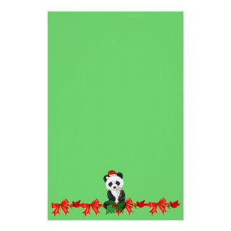 Christmas Panda Personalized Stationery