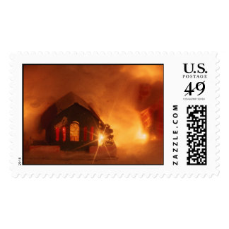 Christmas paper house postage