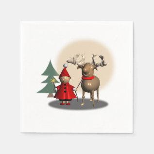 Christmas Paper-napkins Paper Napkin at Zazzle