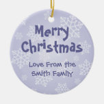Christmas Papillon (add your own message) Ornament