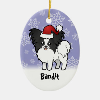Christmas Papillon (add your pets name) Ornaments