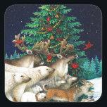 """Christmas Parade Square Sticker<br><div class=""""desc"""">Christmas Parade</div>"""