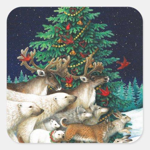 Christmas Parade Square Sticker