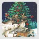 "Christmas Parade Square Sticker<br><div class=""desc"">Christmas Parade</div>"