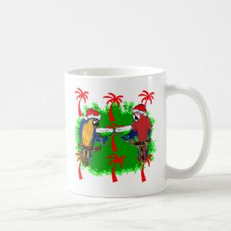 CHRISTMAS PARROTS COFFEE MUG