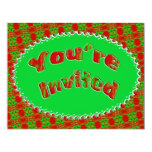 Christmas party 4.25x5.5 paper invitation card