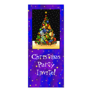 Christmas Party 4x9.25 Paper Invitation Card