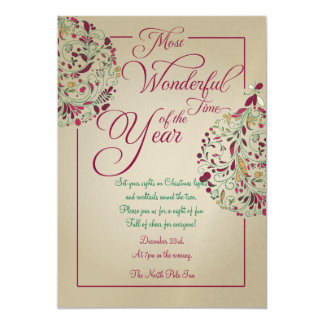 Christmas Party Bauble Invitation