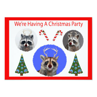 christmas party card personalized announcement