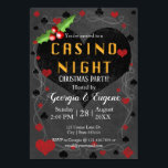 "Christmas Party Casino Night  | Las Vegas Invitation<br><div class=""desc"">A fun casino themed Christmas Party invitation design. The design features a big heart in the centre on a chalkboard styled background. Artwork by ChanDraws Art & Design Feel free to contact if you need help with the customization or if you would like matching wedding products to go with this...</div>"