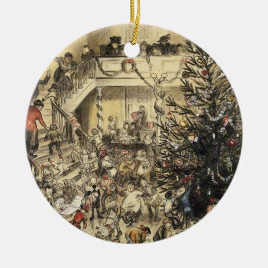 Christmas Party Ceramic Ornament