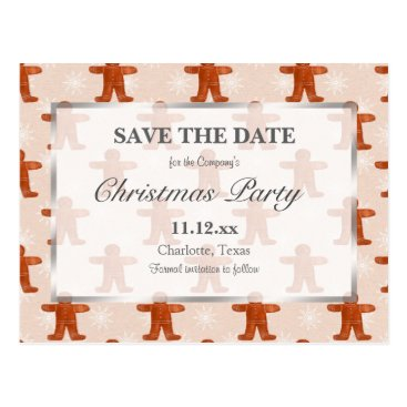 Beach Themed Christmas Party   Christmas Ginger Man Pattern Postcard