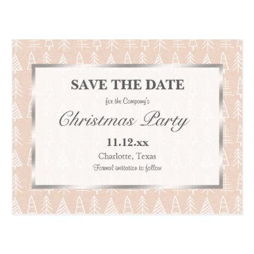 Beach Themed Christmas Party   Christmas Tree Pattern Chic Postcard