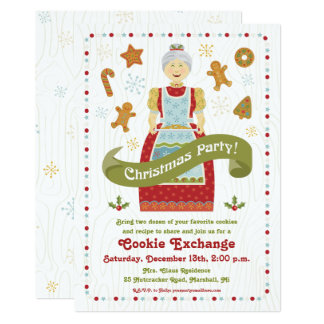Christmas Party Cookie Exchange Invitation