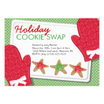 Christmas Party Cookie Exchange Invitations