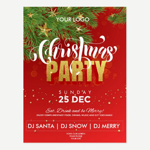 Christmas Party flyer Postcard