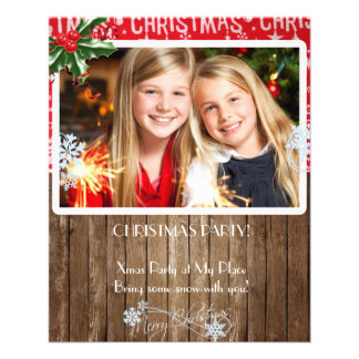 Christmas Party Flyer with your photo