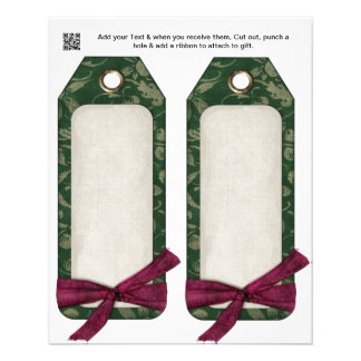 Christmas Party gift or favor Bag Tags Flyer
