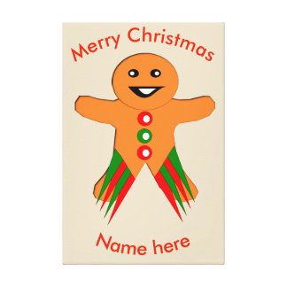 Christmas Party Gingerbread Man Custom Print