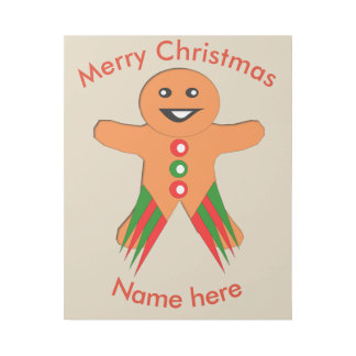 Christmas Party Gingerbread Man Gallery Wrap