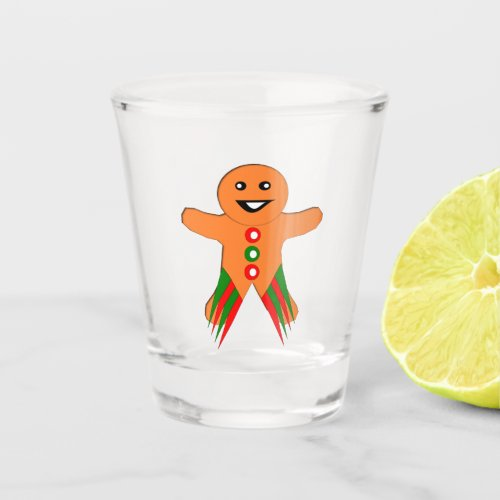 Christmas Party Gingerbread Man Shot Glass