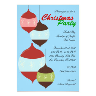 Christmas Party Hanging Ornaments Holiday Invite