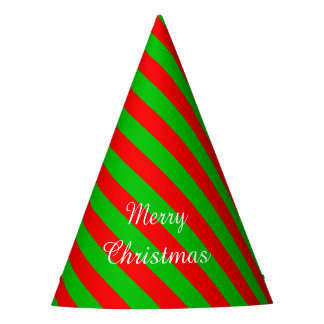 Christmas Party Hat/Green and Red Stripes Party Hat
