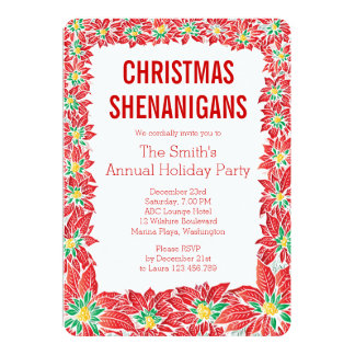 Christmas Party Holidays Invitation