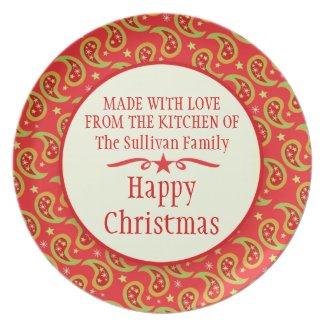 Christmas paisley