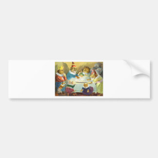 Christmas Party in Animal Land Bumper Stickers