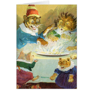 Christmas Party in Animal Land Card