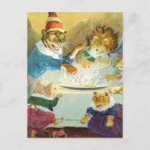 Christmas Party in Animal Land Holiday Postcard