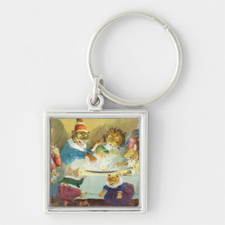 Christmas Party in Animal Land Keychain