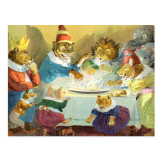 Christmas Party in Animal Land Postcard
