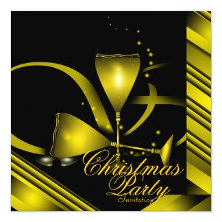 "Christmas Party Invitation 5.25"" Square Invitation Card"