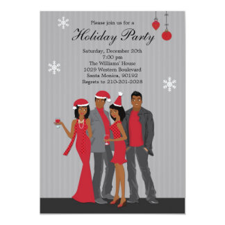 Christmas Party Invitation African American